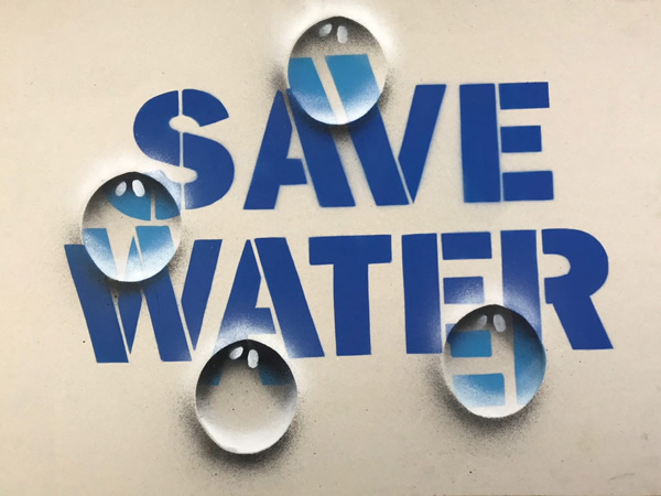 Logo save water